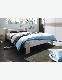 Pinto - französisches Bett komkplett - Matratze und Rollrost inklusive Milieu