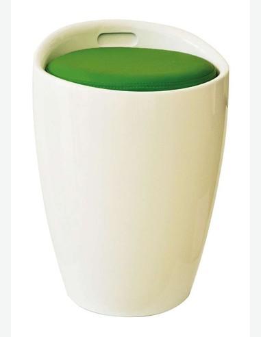 Minnie - Sgabello bianco, disponibile con cuscini di vari colori