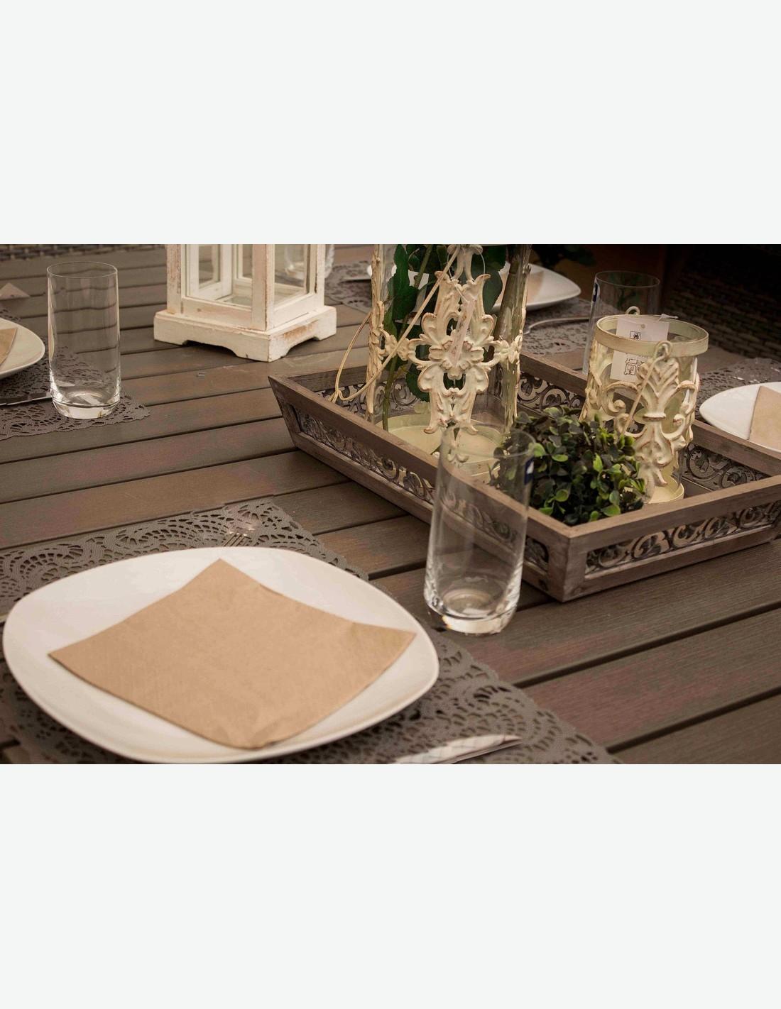 Set da giardino in rattan sintetico incl tavolo e 6 sedie for Set tavolo e sedie da giardino rattan