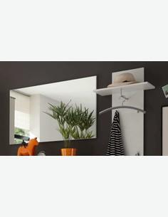 Lilo - Komplett Garderobe in Eiche San Remo / weiß Dekor Milieu Detail