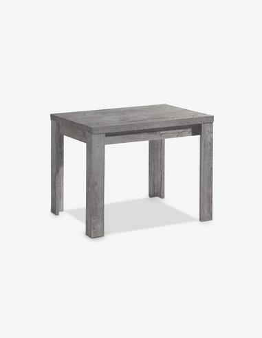 Merlox - Tavolo da cucina con funzione allungabile, in colore cemento d'imitazione