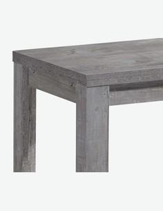 Merlox - Tavolo da cucina con funzione allungabile, in colore cemento d'imitazione - dettaglio