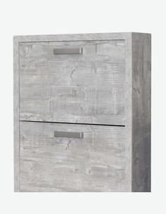 Madita - Schuhkipper mit 4 Türen aus Holzdekor, farbe Beton - Detail