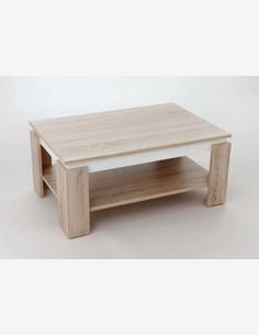 Tommi - Tavolino da soggiorno con 1 ripiano, disponibile in 2 diversi colori - marrrone/bianco