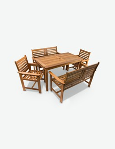 Furni - Set da giardino in legno Teak