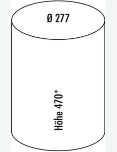 Rondo - Abfallsammler grau - Maße