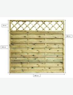 Cremona - Sichtschutzwand aus Holz - Maße
