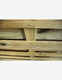 Cremona - Sichtschutzwand aus Holz - Detail