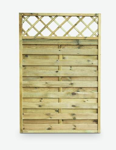 Cremona - Sichtschutzwand aus Holz - freigestellt