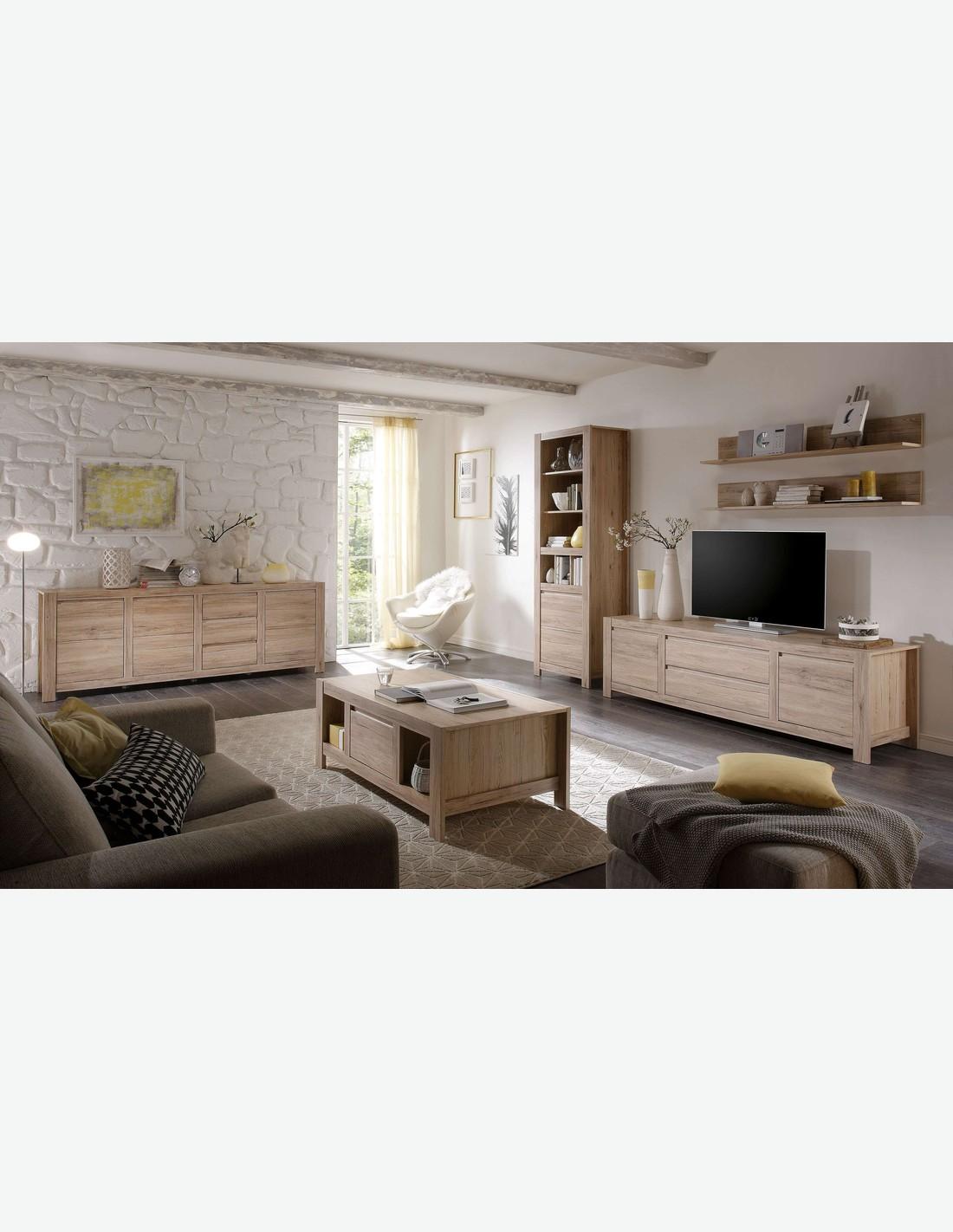 couchtisch mit 2 schubk sten aus eiche san remo hell dekor. Black Bedroom Furniture Sets. Home Design Ideas