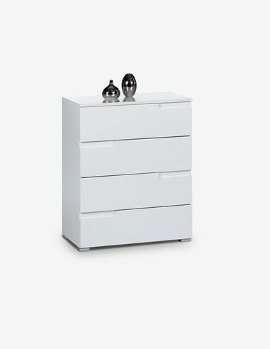 Cassettiere Profondit 30 Cm.Kommode Mit 4 Schubkasten In 2 Verschiedenen Farben Verfugbar