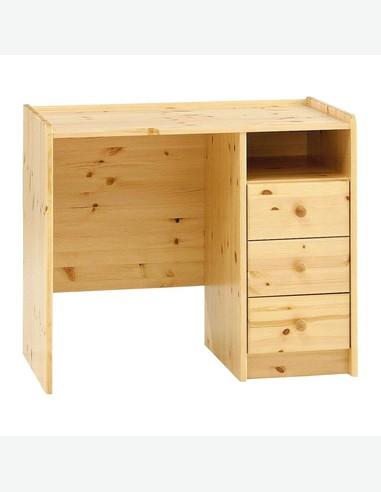 Step - Schreibtisch in Kiefer massiv mit 3 Schubladen