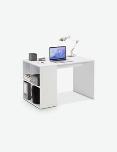 Domus - Schreibtisch aus Holzdekor mit 4 offenen Fächern