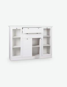 Lando - Kommode aus Holzdekor in weißer Farbe