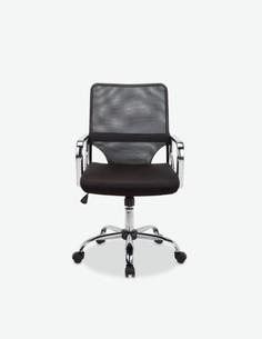 Contura - Drehbrer Bürostuhl auf Rollen, aus Mikrofaser schwarz, mit Rückenlehne aus atmungsaktivem Netzgewebe
