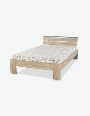 Jola - Futonbett aus Holzdekor, Matratze und Lattenrost inklusive! In 2 verschiedenen Farben verfügbar