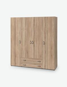 Balu 4 - Drehtürenschrank aus Holzdekor - braun - gesamt