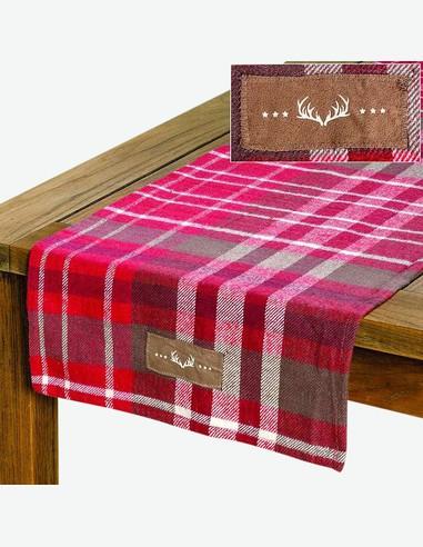 Gino - Corridore da tavolo rosso in cotone