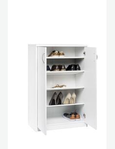 Keran - Schuhschrank mit 2 Türen und 4 Einlegeböden, aus Holzdekor