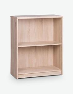 Keran - Scaffale aperto in legno laminato di colore quercia Sonoma, con 1 ripiano aperto integrato