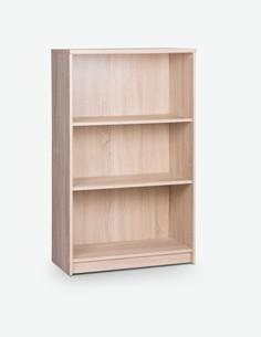 Keran - Scaffale aperto in legno laminato, con 2 ripiani aperti integrati. Disponibile in 2 diverse colorazioni