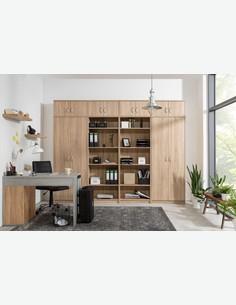 Keran, scaffale aperto in legno laminato, quercia sonoma