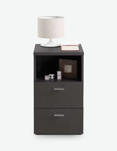Colma - Comodino con 2 cassetti ed 1 vano aperto, in legno laminato