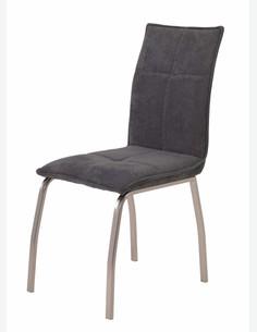 Nino - Sedia con telaio in metallo e imbottitura in microfibra, adatta per ogni stanza della tua casa