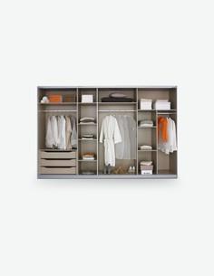 Universal - Ripiano, grande, in legno laminato in Textline look per gli armadi RUBITO