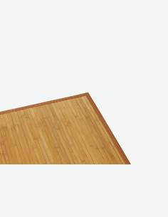 Dana - Bambusteppich - Farbe verkohlt - Detail