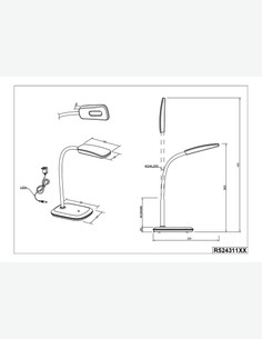 Boa - LED Tischleuchte aus Kunststoff / Acryl, 4-fach Touch-Dimmer