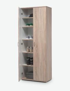 Talento - Schuhschrank aus Holzdekor, mit 2 Türen und 5 innere Ablagen