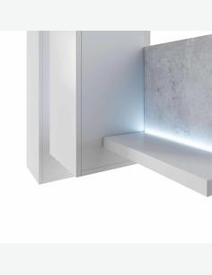 Botago - Wohnwand aus Holzdekor mit inklusiver LED Beleuchtung