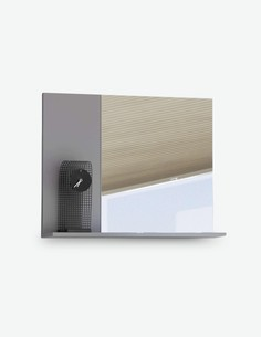 Luanda - Spiegel aus Holzdekor, weiß / grau