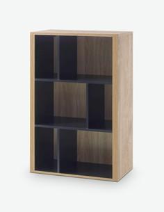 Vidina - Hängeelement aus Holzdekor, Farbe in Eiche Ribbeck / schwarz
