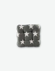 Sala - Cuscino da seduta grigio / bianco con motivo stellato