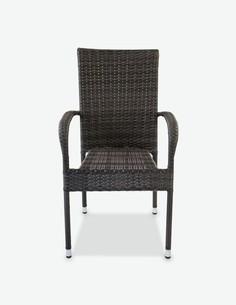 Agordo - Stapelbarer Stuhl aus Polyrattan