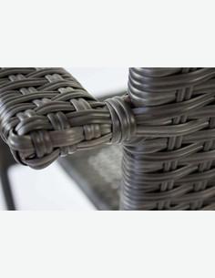 Agordo - Sedia in rattan sintetico impilabile