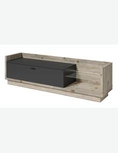 Toivola - TV Möbel, aus Holzdekor in der Farbe Oslo-Kiefer / anthrazit
