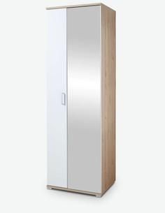 Nora - Garderobenschrank aus Holzdekor in Eiche Jackson / weiß matt