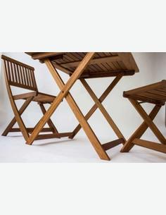Maldo - Sedia pieghevole da giardino / balcone, in legno massiccio
