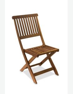 Maldo - Klappstuhl für Garten / Balkon, aus massivholz