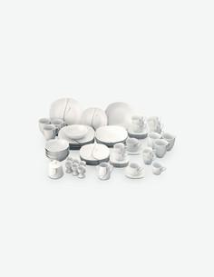 Silver Night - Servizio combinato, porcellana