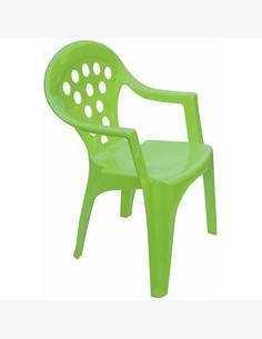 Bitti - Sedia singola in plastica sintetica per bambini, colori misti