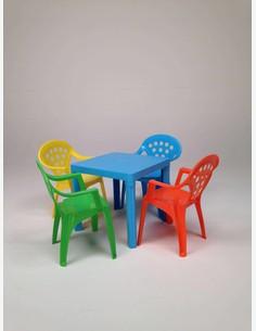 Bitti - Kinderstuhl aus Kunststoff, farben gemischt