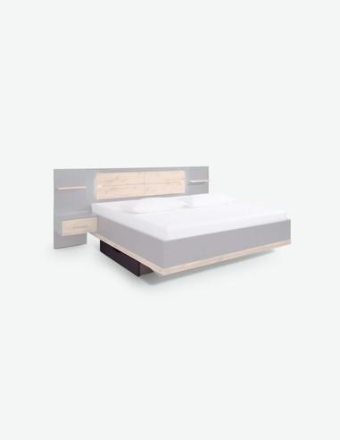 Bison - Rollbettkasten aus Holzdekor in grau metallic