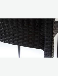 Lula - Stapelbarer Stuhl aus schwarzem Polyrattan