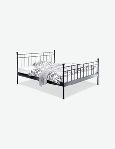 Ledro - Doppelbettgestell aus schwarzem Metall