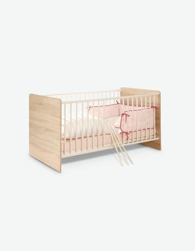 Werni - Culla per neonati in legno laminato con rete a doghe regolabile compresa