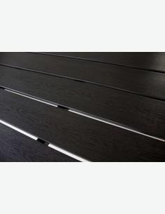 Limana - Tavolo da giardino / Balcone con telaio in metallo e superficie in Polywood